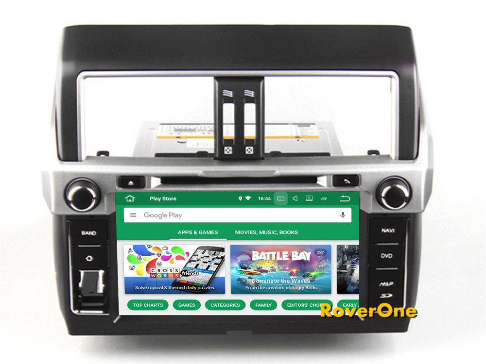 RoverOne For Toyota Prado 150 2014+ Android 8.0 Autoradio GPS Navigation Car Media DVD Player Radio Stereo Bluetooth Head Unit