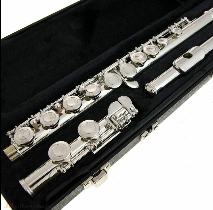US Armstrong Flute Model 104 Nickel Silver Plated 16 Holes C Key Closed Brand New Student Flute Copy for Beginner