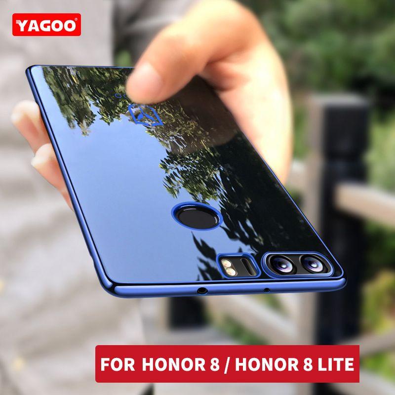 Huawei Honor 8 caso del brillo de la cubierta de silicona a prueba de golpes capacidad Original Yagoo Huawei Honor 8 Lite TPU cubierta de la caja 5.2 de Lujo fundas