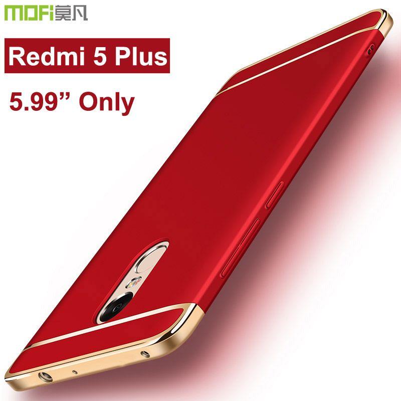 Xiaomi redmi 5 plus cas xiaomi redmi5 plus cas pare-chocs arrière mofi de luxe dur protection 360 pleine couverture xiaomi redmi 5 plus cas