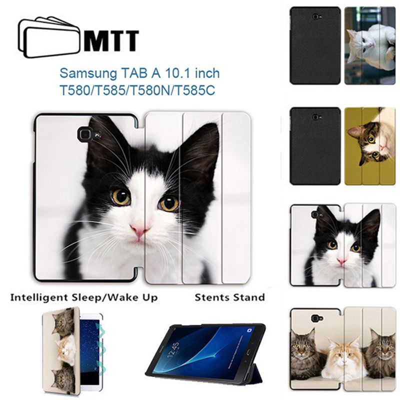 MTT For Samsung Galaxy Tab A 10.1'' A6 T580N T585C fashion Cat Protective Stand Case for Galaxy Tab A 10.1 SM-T580/585 Tablet