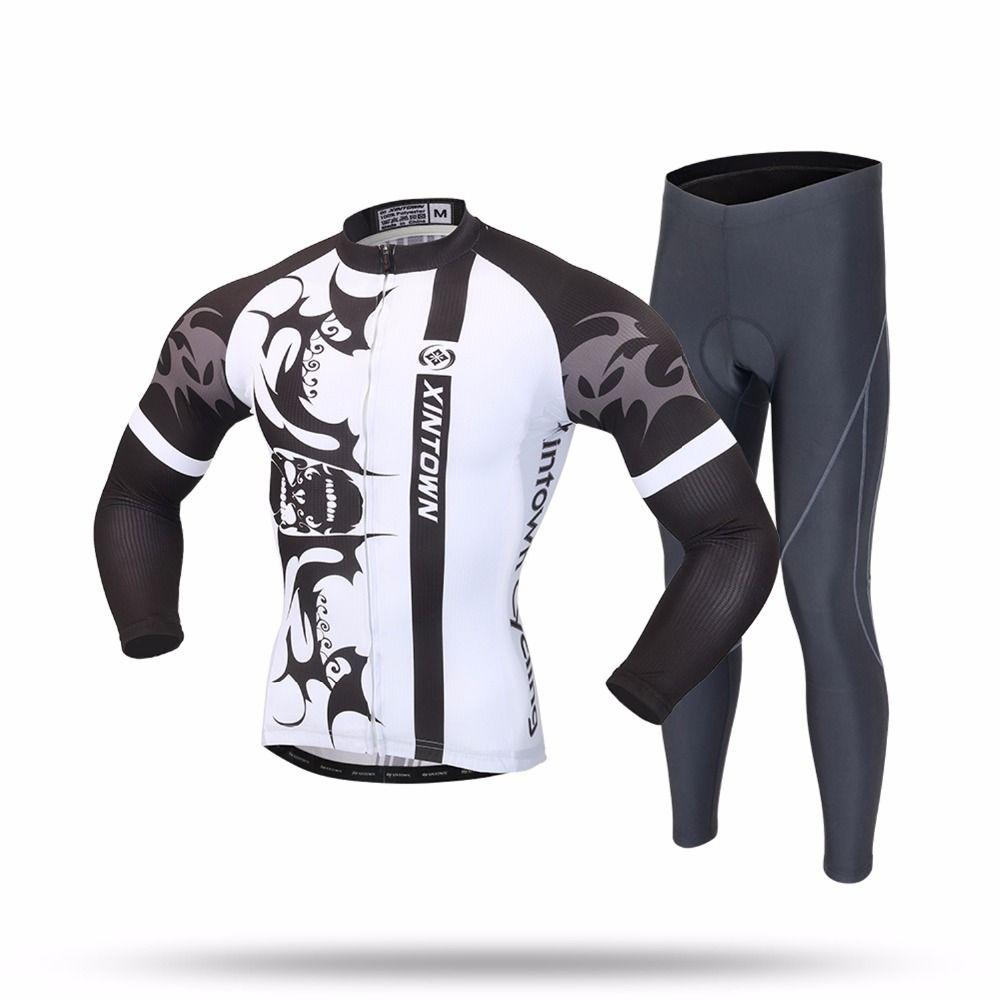 XINTOWN Cycling Sets Long Sleeve Breathable Jersey Clothes Bicicleta Mountain Bike Ropa Ciclismo Bicycle Set Long Sleeve YEFUBAI