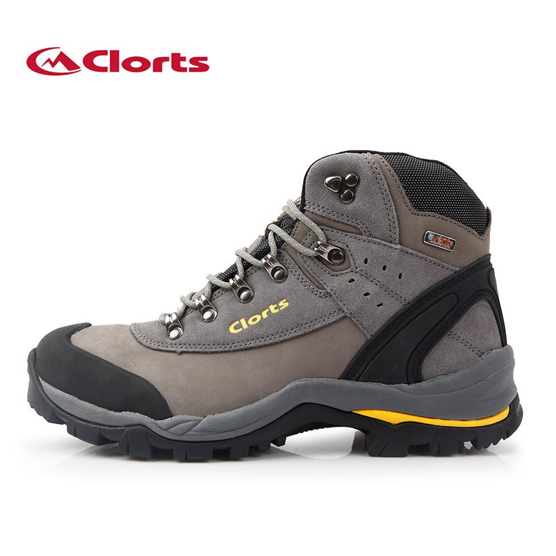 Clorts Men Genuine Leather Hiking Boots Nubuck Waterproof Outdoor Sneakers EVENT Climbing Shoes 3A012