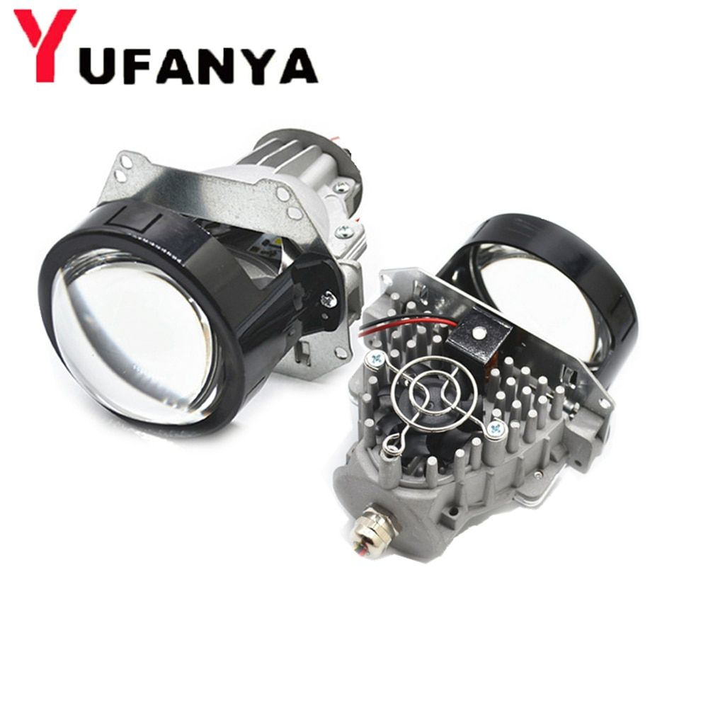 35W BI LED projector lens car retrofit modify universial LED Headlight High Low Beam hid xenon lens fit h1 h4 h7 d1 hb3 hb4
