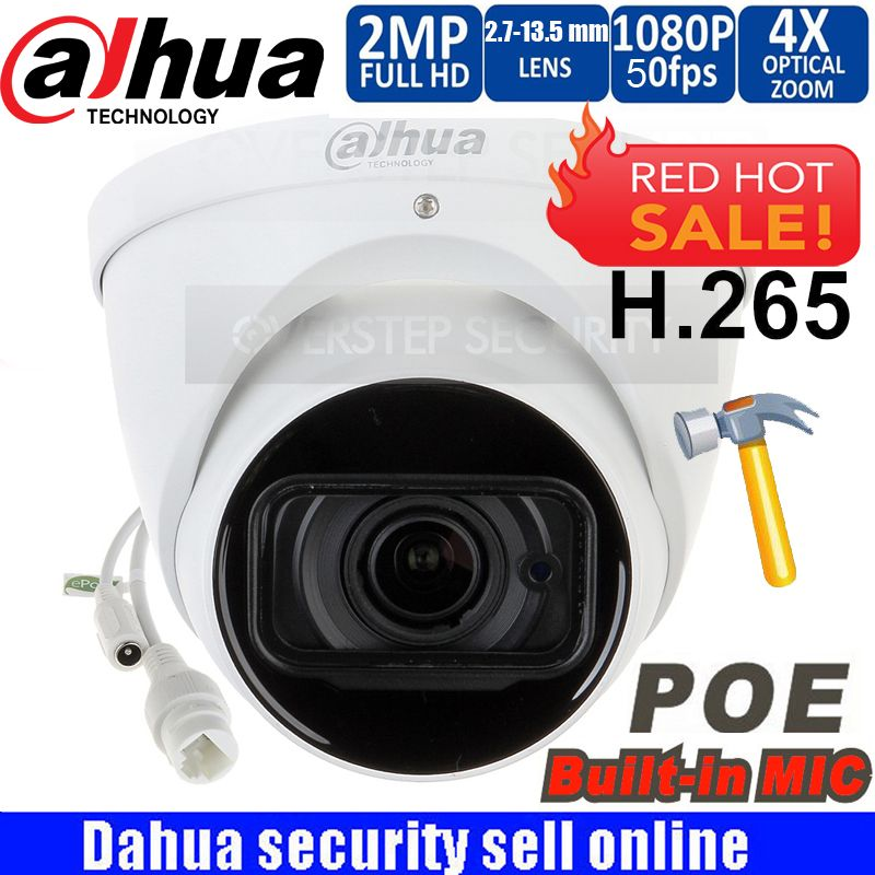 Original Dahua logo IPC-HDW5231R-ZE 2MP WDR IR Eyeball Network Camera 2.7mm-13.5mm lens Starlight Network Camera with micphone