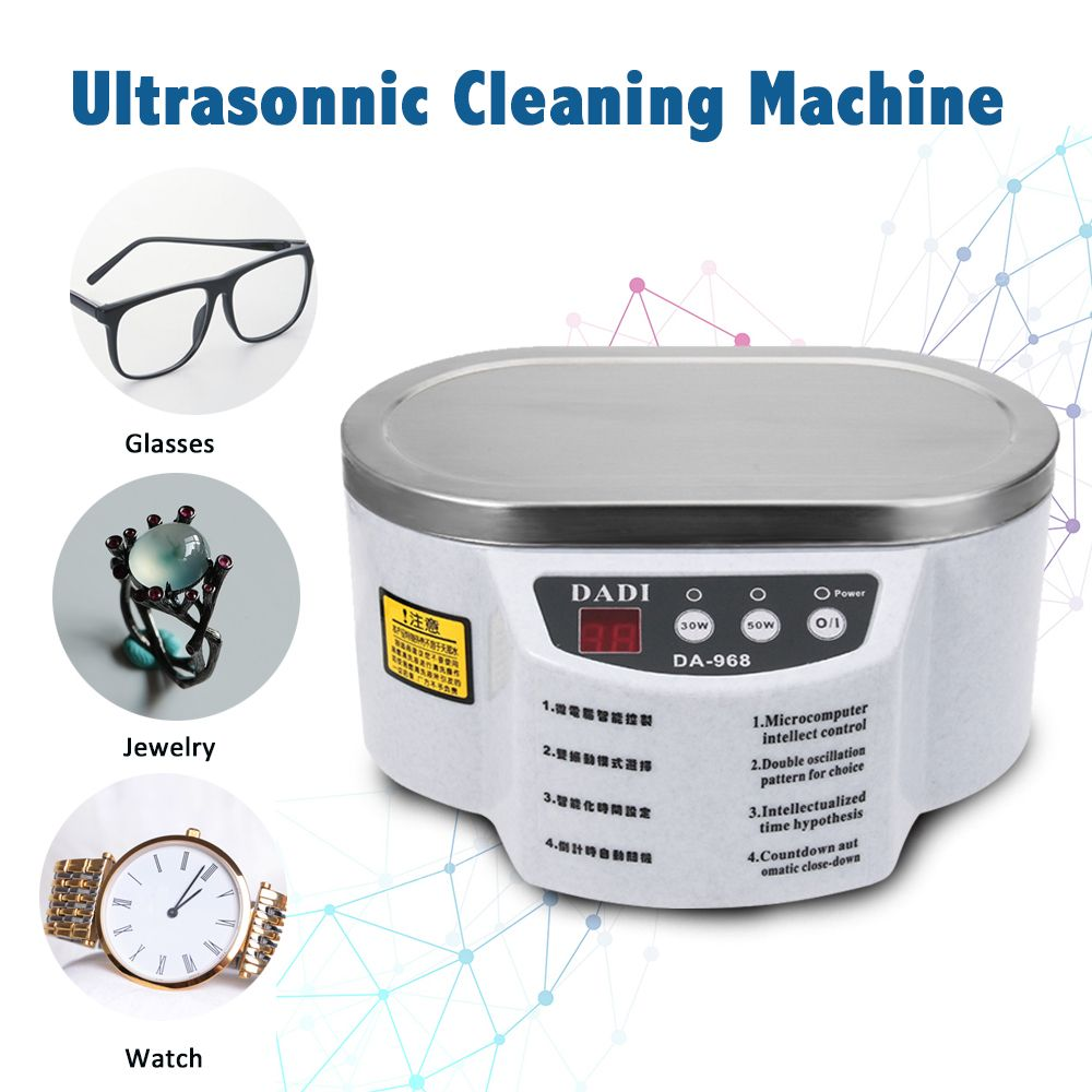 600 ml Ultrasonic Cleaner Jewelry Glasses Circuit Board Cleaning Machine Intelligent Control cleaning ultrasonic bath XJ