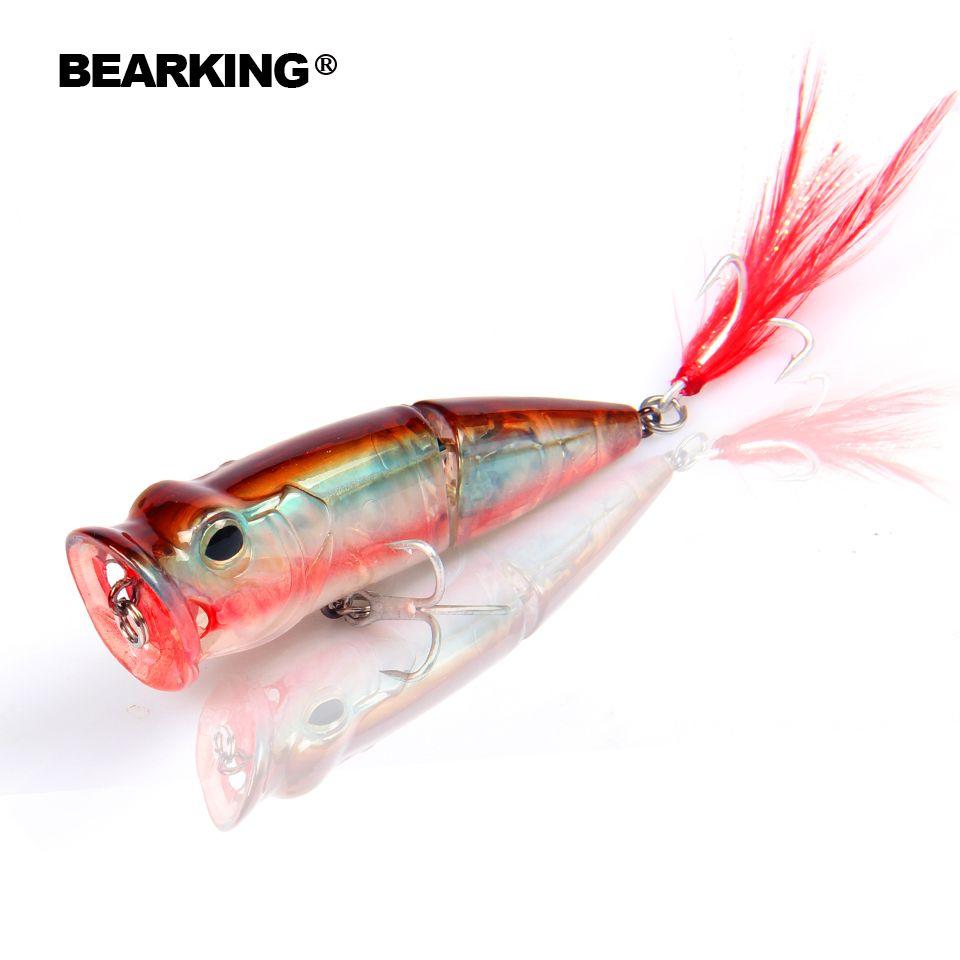 2017 Bearking Heißer Modell Einzelhandel fischerei lockt, harten köder assorted farben, popper 70mm 11g, schwimm topwater köder