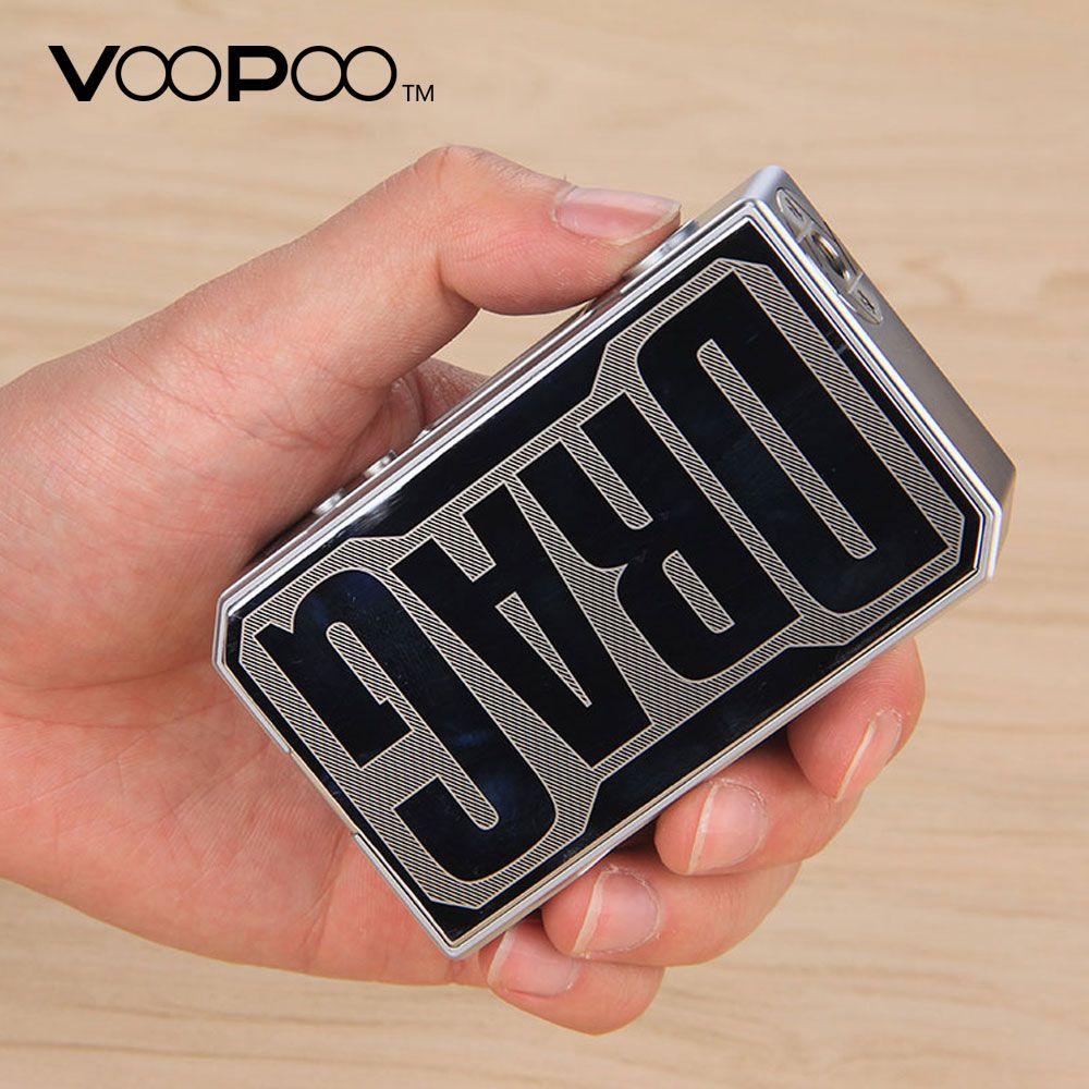 Original VOOPOO DRAG 157W TC Box MOD with US GENE chip Temperature Control e cigarette 157W 18650 box mod Vape Pro 0.05-3.0 Coil