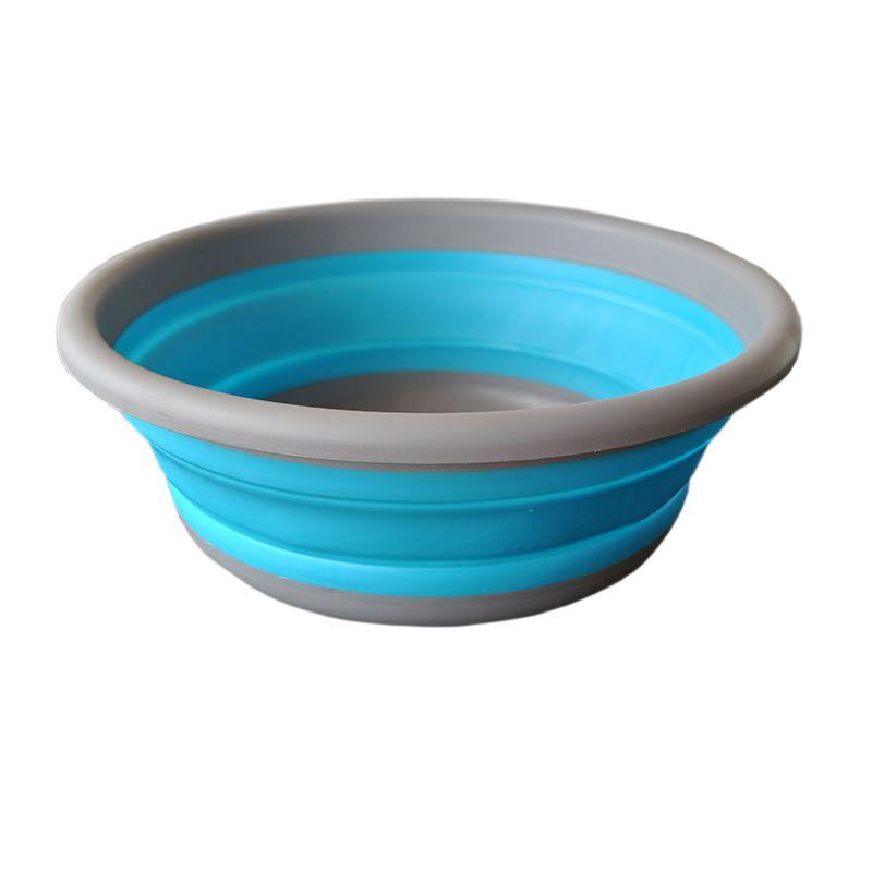 32CM Collapsible Portable Basin Pot Folding Bucket Camping Fishing Car Washing Basins water Folding washbasin Free shipping