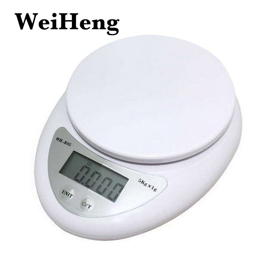 WEIHENG 5000g/1g 5kg Food Diet Postal Kitchen Scales balance Measuring weighing scales LED electronic scales