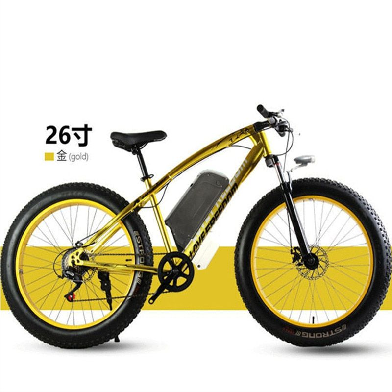 Electric bicycle 48V 500W 12Ah powerful electric bicycle lithium battery electric bicycle hair 26