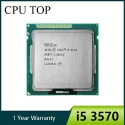 Intel i5 3570 четырехъядерный процессор 3,4 ГГц L3 = 6 M 77 W разъем LGA 1155 рабочего Процессор работает 100%