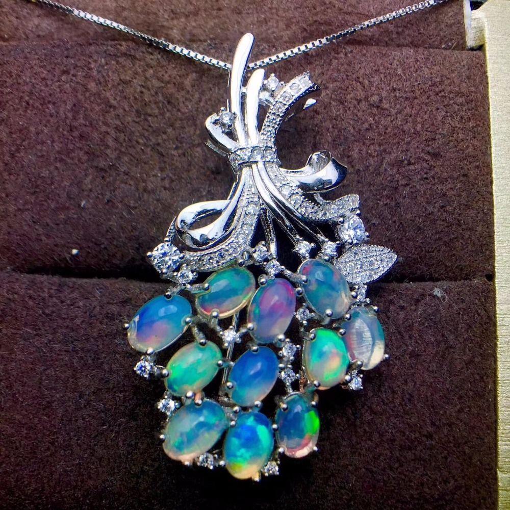 Anhänger Brosche dual zweck stil 925 Silber Natürliche opal verwandeln farbe super schöne natürliche edelstein monopol