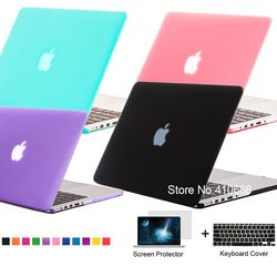 Nuevo mate goma helada para MacBook Pro 13.3 15.4 pro retina 12 13 15 pulgadas MacBook Air 11 13 protector para Mac libro