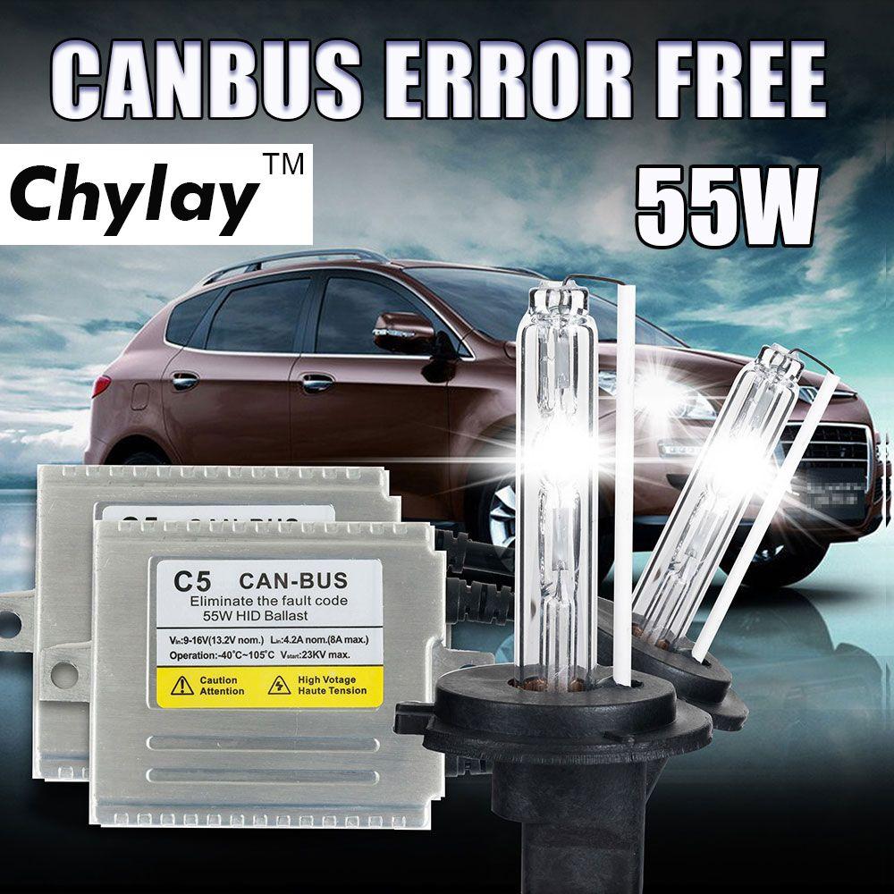 55W Canbus HID xenon kit H1 H3 H4 H7 H11 9005 9006 D2S car headlight slim ballast xenon bulb 4300K 6000K 8000K xenon H7