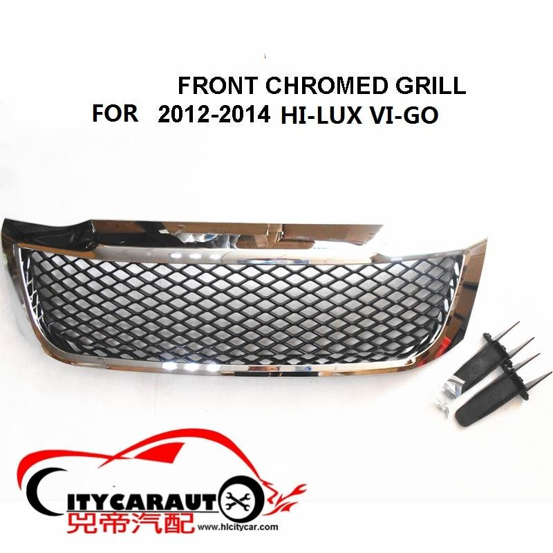 CITYCARAUTO OWN DESIGN MODIFIED CHORMED RACING GRILLE PICKUP FRONT GRILL GRILLE MASK for HILUX VIGO 2012-2014 raptor GRILLs