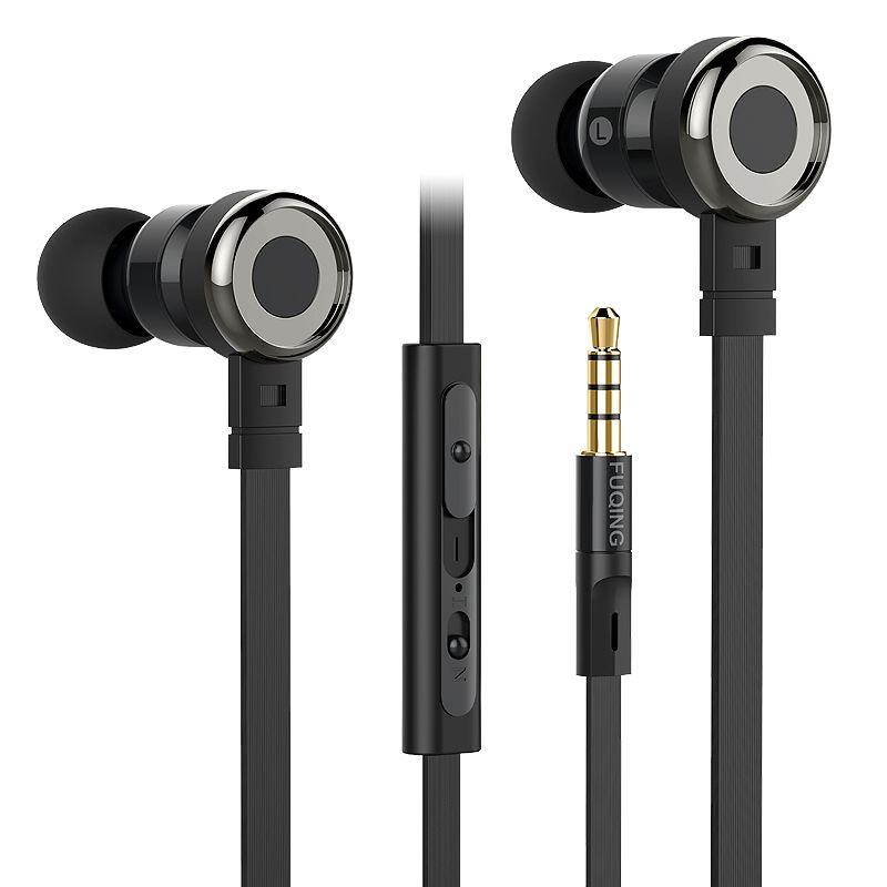FuQing C1 D'origine stéréo 3.5mm Casque In-Ear Écouteurs Avec Micro Pour iPhone Samsung MeiZu Tablet Pour mp4 mp3 Lecteur