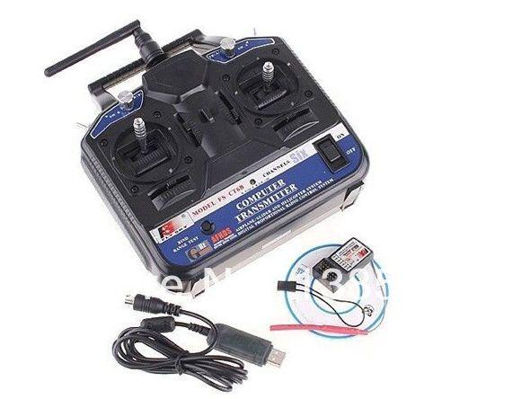 FlySky FS-CT6B FS CT6B 2.4G 6CH Radio Set System ( TX FS-CT6B + RX FS-R6B) RC 6CH Transmitter + 6CH Receiver--Ship w/ Color Box
