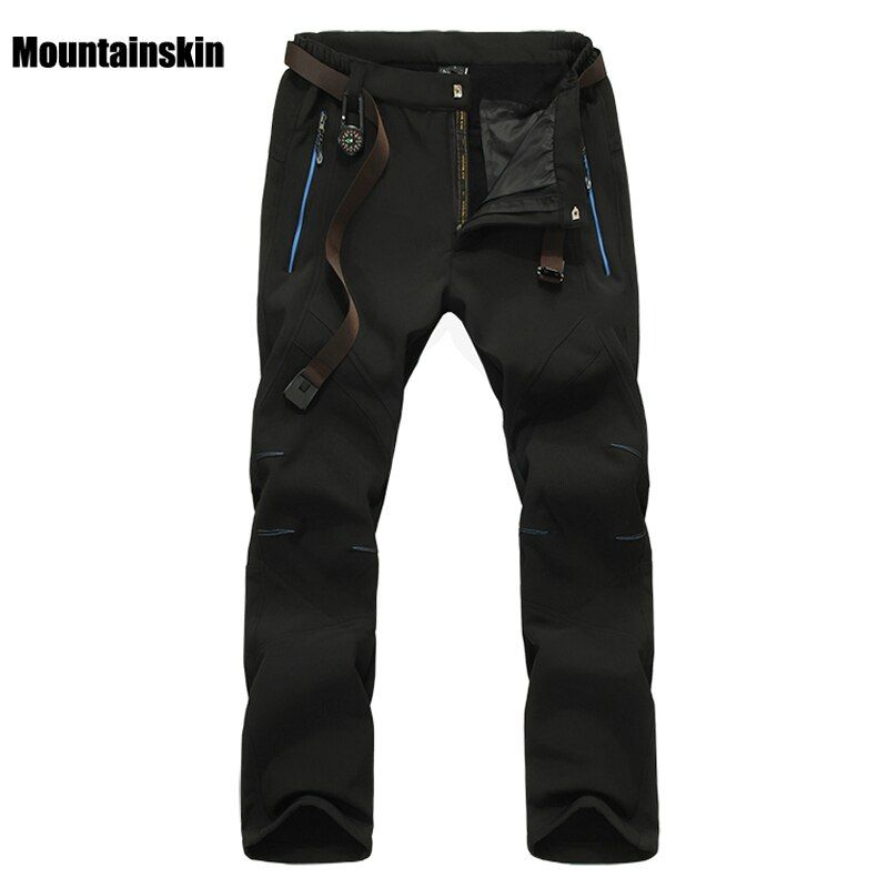 Mountainskin Men's Winter Softshell Fleece Pants Outdoor Sports Waterproof Skiing Trekking Hiking Camping Male Trousers VA056