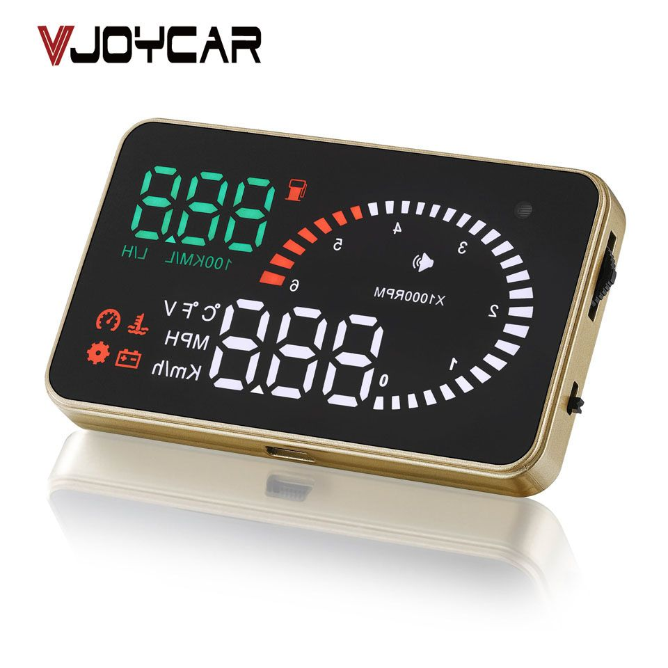 VJOYCAR X6 3 Auto Hud Head Up Display OBD Car <font><b>Speedometer</b></font> OBD2 Speedo Over Speed Voltage Alarm Windshield Projector OBDii Plug