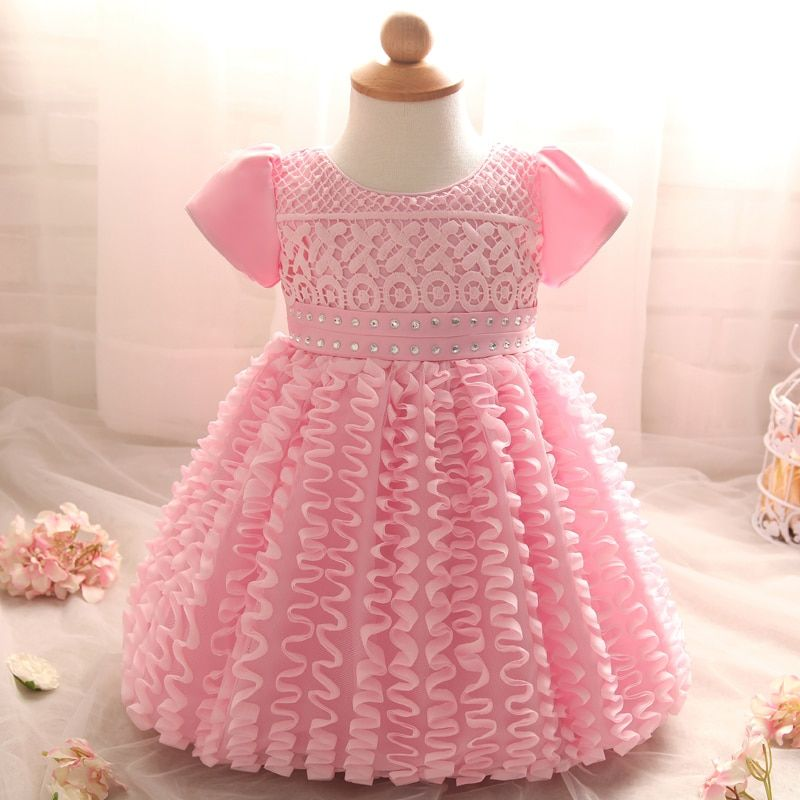 Baby Girl Dress Wedding newborn 1 year <font><b>birthday</b></font> christening dress Infant Princess tutu dress Party white baby girls clothes