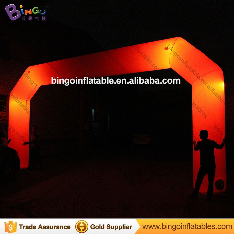 customized 8*4m red Inflatable arch with lighting for party - toy