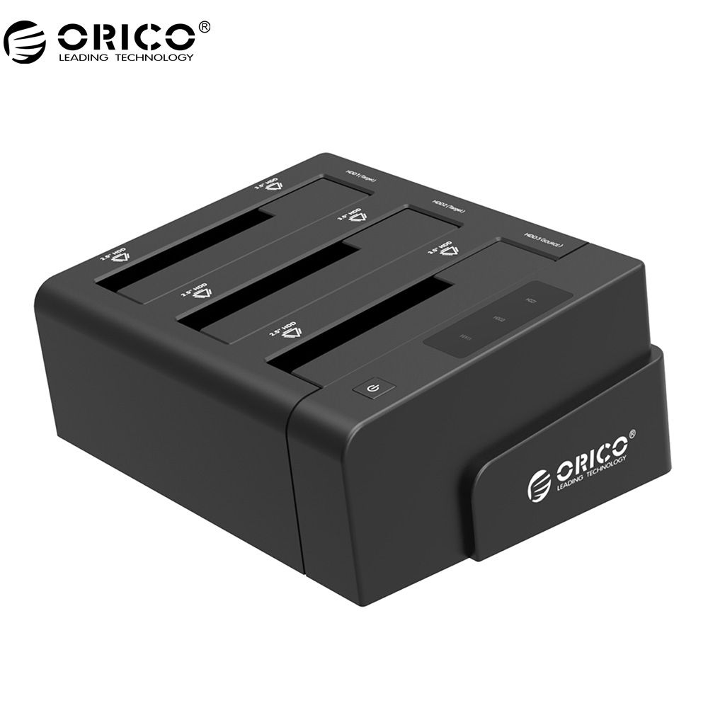 ORICO 6638US3-C USB 3.0 SATA Tool Free 2,5 ''/3,5'' Off-line Klon Hdd Docking Station-Schwarz