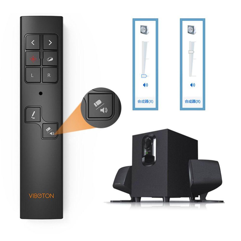 All-in-1 Multimedia PowerPoint Remote Control Wireless Presenter Laser Presentation Pointer Laser Pen Mouse Flip Pen for windows