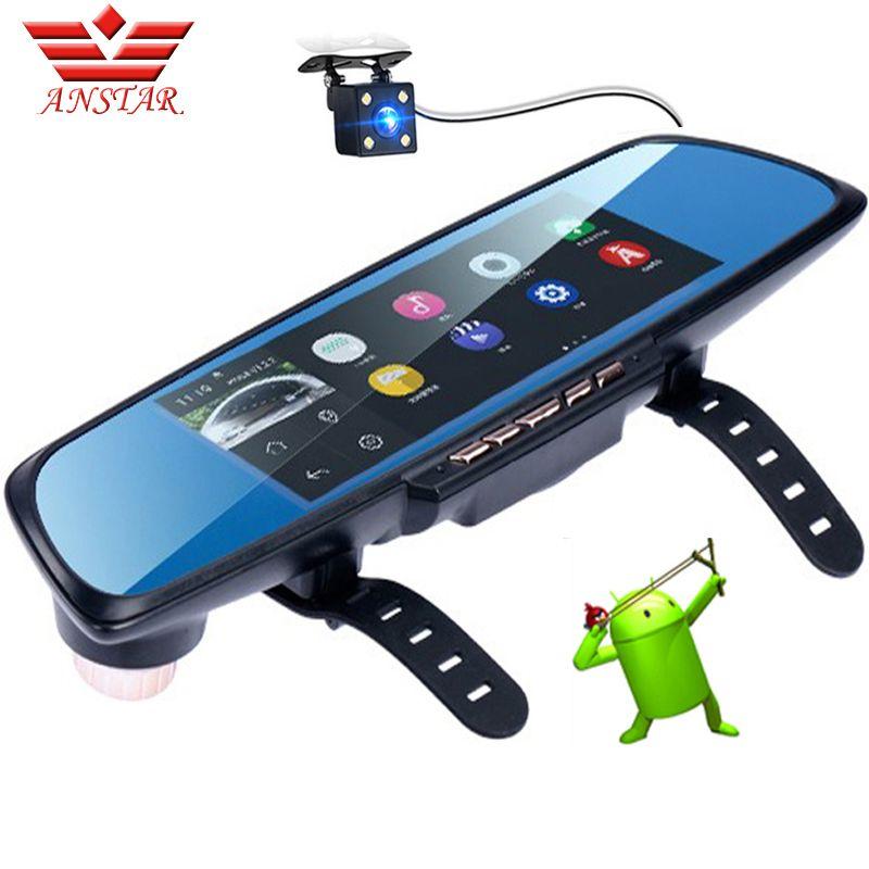 ANSTAR Android Rearview Mirror Car DVR Dash Cam GPS Navigation 6.86