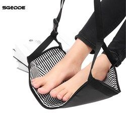 SGODDE Fashion Portable Cotton Knitted Footrest Flight Carry-on Foot Hammock Rest Soft And Durable