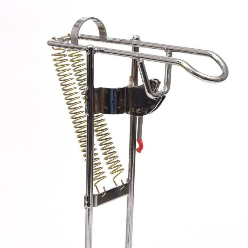 Automatic Double Spring Angle <font><b>Fishing</b></font> Pole Tackle Bracket Anti-Rust Steel <font><b>Fishing</b></font> Bracket Rod Holder <font><b>Fishing</b></font> Tackle Accessories