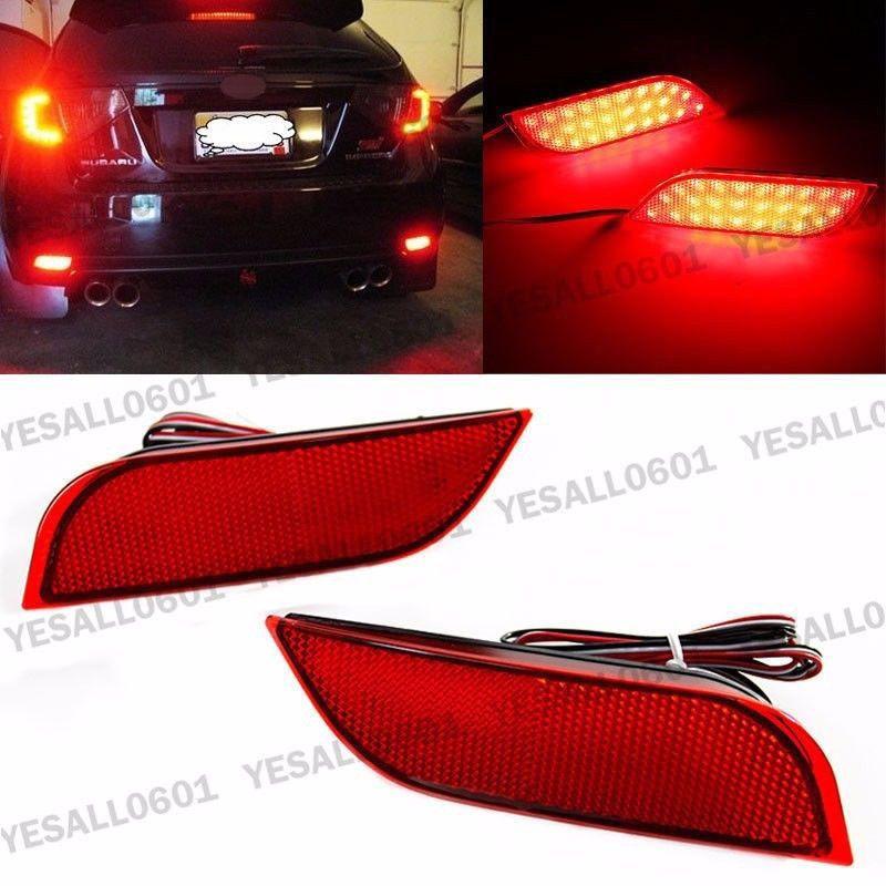 LED Rear Bumper Reflector Brake Fog Lights For Subaru Exiga Levorg WRX STI Legacy XV Crosstrek Impreza 11 12 13