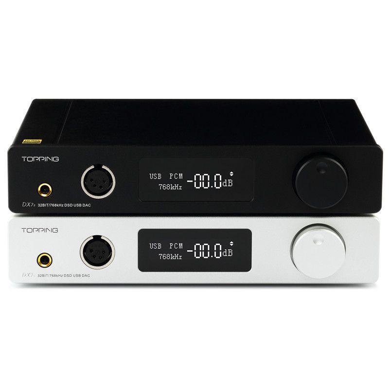 TOPPING DX7s Full Balanced DAC & Headphone Amplifier Decoder Support 32BIT/768k DSD512 native 1000mW*2@32ohm