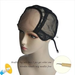 Black/Dark Brown/Brown/Ligth Brown/Beige U Part Wig Caps Swiss Lace For Making Wigs With Adjustable Straps Glueless Weaving Caps