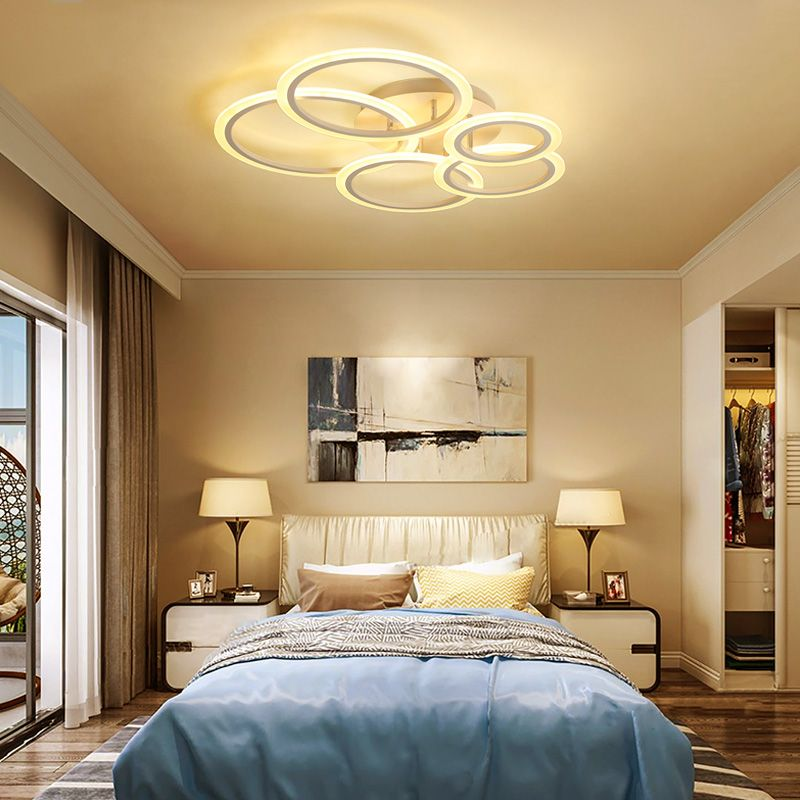 YANGHANG Dimmer led ceiling light with art colud Acrylic lamp ceiling for bedroom living room mount home decoration luminaire