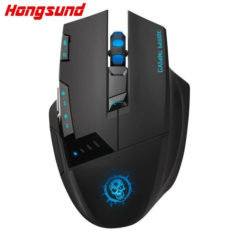 Hongsund C50 souris sans fil ordinateur de bureau souris de jeu Internet led CF professionnel 7d USB souris
