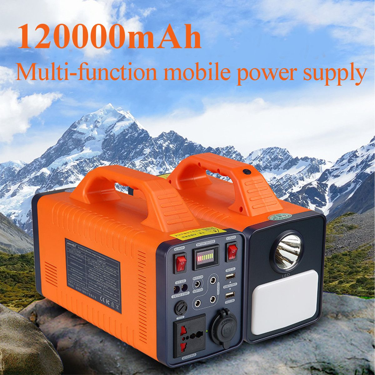 120000 mah 444Wh 300 watt Tragbare Solar Power Lagerung Generator Inverter Camping Licht Multifunktions Tragbare Mobile Power Versorgung