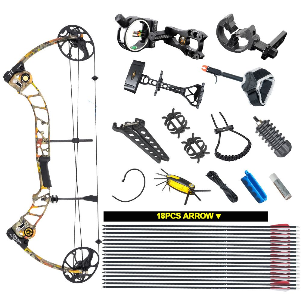 Topoint Archery Compound bow package,T1,CNC milling Bow Riser,19-30in draw length,19-70lbs draw weight,320fps IBO