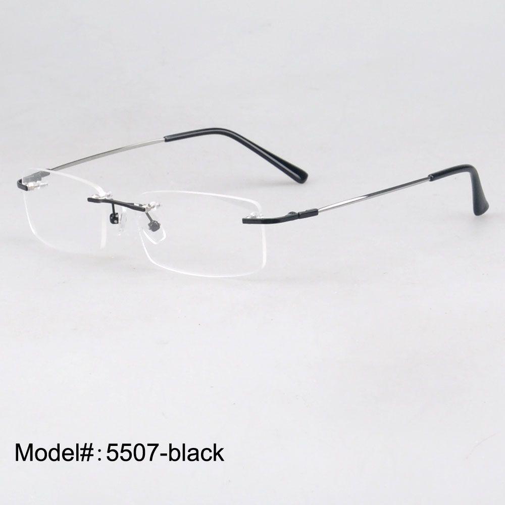MY DOLI Wholesale unisex rimless memmory titanium eyewear optical frames 1 lot 50PCS factory price 5507