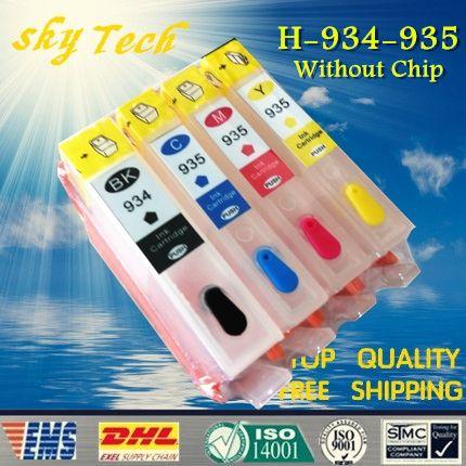Cartouches de recharge vides costume pour Hp 934 935, costume pour HP Officejet Pro 6830/6230/6835/6812 etc, sans Puce