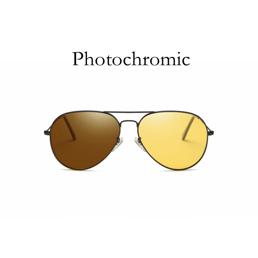 TAC Polarized Photochromic Pilot Sunglasses Night Vision Driver Rider Goggle Chameleon Change color Men Women Glasses