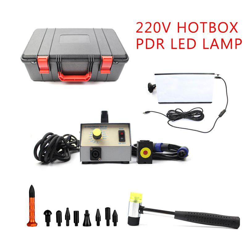 220 V Heißer Box System Induktion Magnetische Induktion Und PDR Led-lampe Für Auto Ausbeulen ohne Reparatur