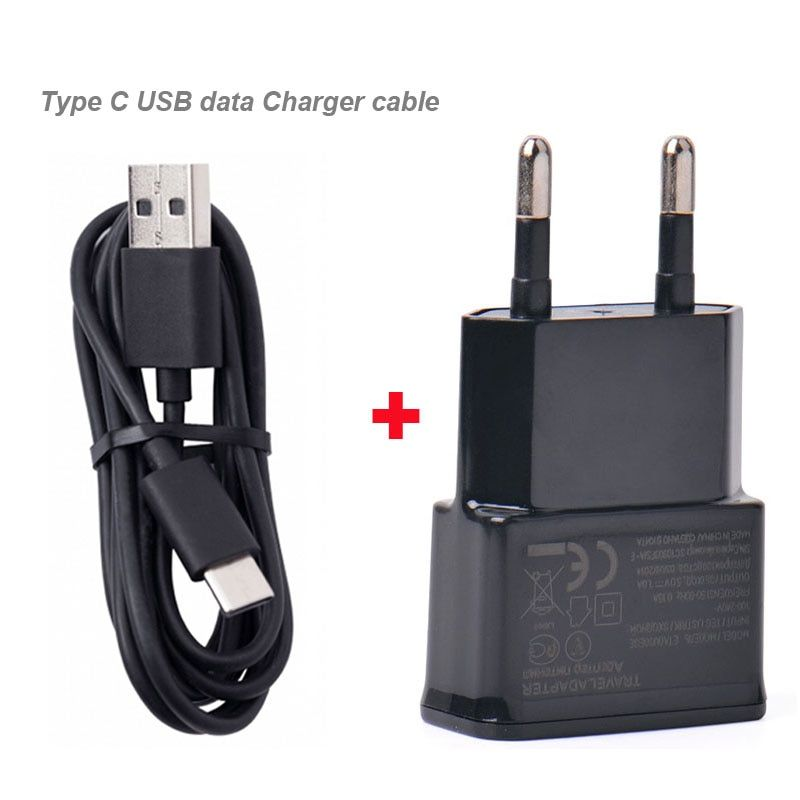 2A EU Plug Adapter Mobile Phone Travel Charger +Type C USB Data Cable For LeEco Cool1 dual,LeEco Le 2s,ZTE Blade V8 Pro