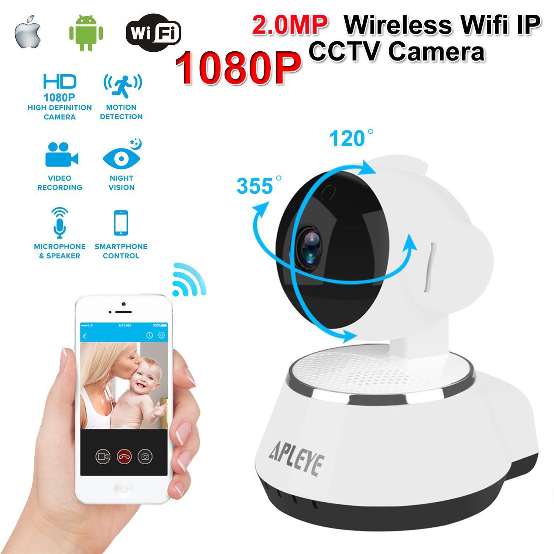 APLEYE 2.0MP Wifi 1080P IP Camera 4G IR-Cut Night Vision Wireless Network Mini Baby Monitor CCTV Security Surveillance Camera
