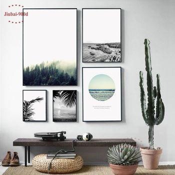 900d Скандинавское украшение дома Картина Пейзаж холст печать живопись, лес настенные картины для украшения дома, Настенный декор BW005