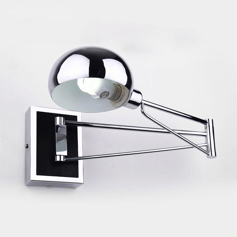 Moderne LED Wandleuchten Einfache Nachtwandleuchte Mit Dimmer Chrom Flexibilität Wandleuchten Leselampe Innenbeleuchtung