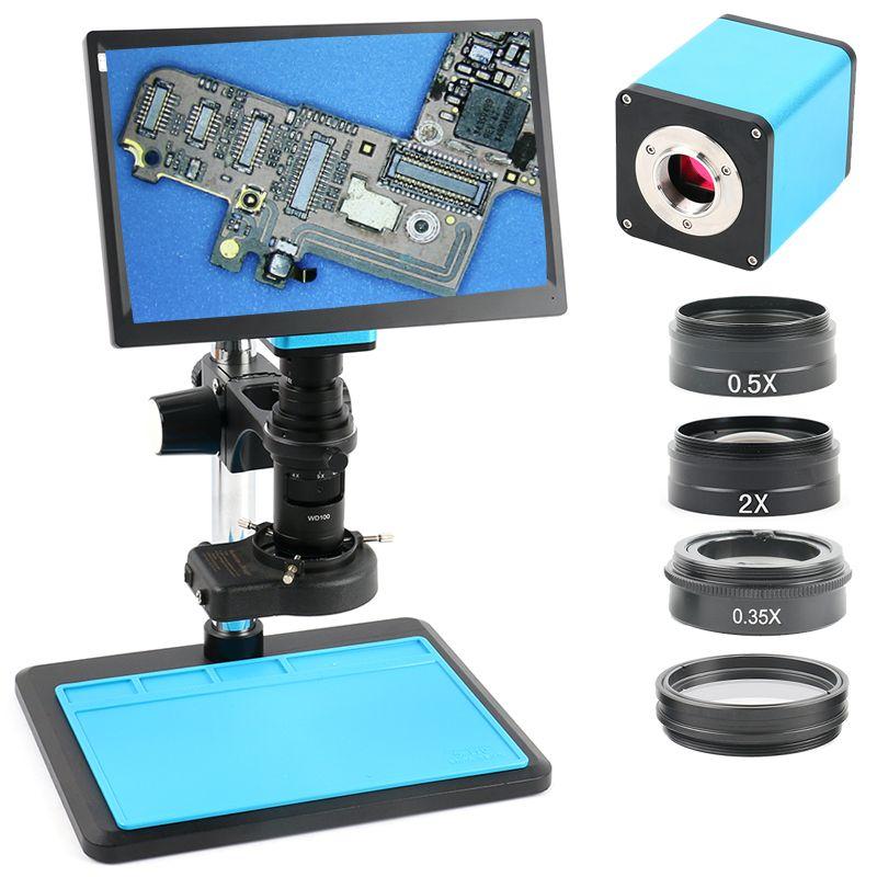 2019 Upgrade Autofokus SONY IMX290 HDMI TF Video Auto Fokus Industrie Mikroskop Kamera + 200X C Mount Objektiv + 11,6