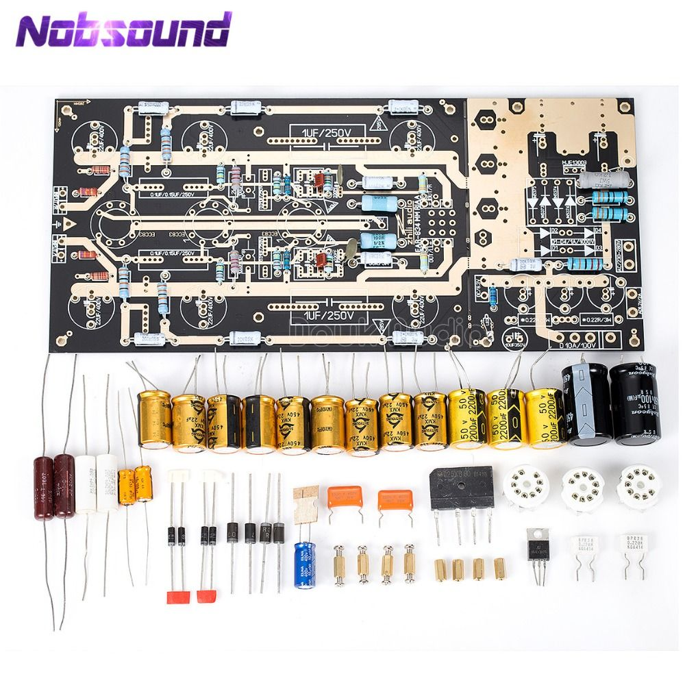 Nobsound United Kingdom ear834 MM RIAA Tube Phono Amplifier Stereo amp LP Turntable Pre-Amp DIY KIT