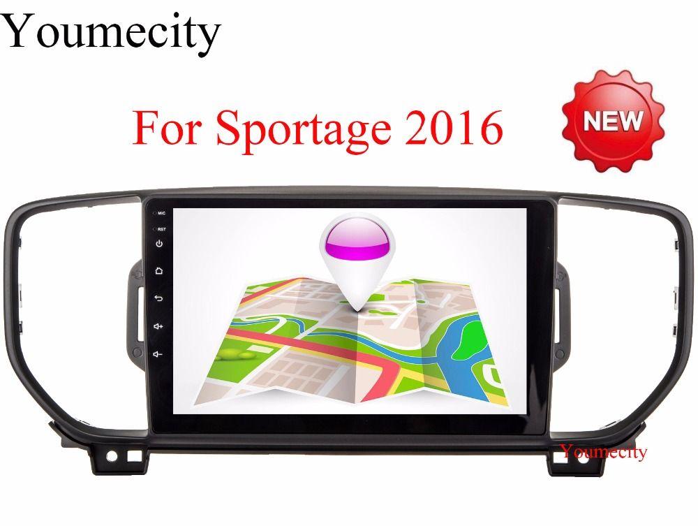 2G + 16G mutilmedia Android 6.0 dvd de voiture lecteur gps dvd pour KIA sportage 2016 2017 voiture pc gps navigation voiture stéréo tête unité
