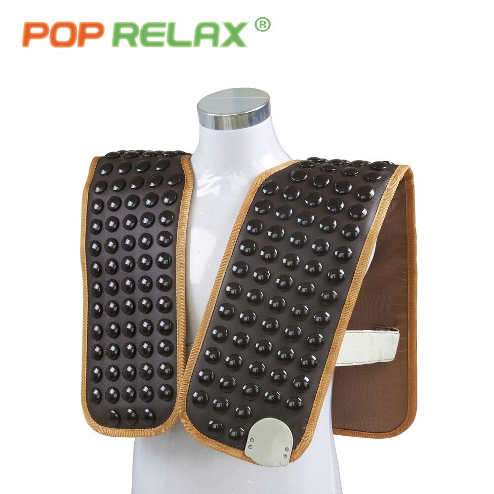 POP RELAX 110V tourmaline stone belt thermotherapy waistcoat cervical shoulder back pain relief infrared back spine heating mat